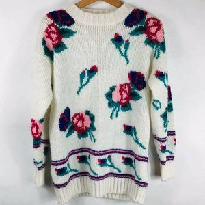 Vintage Womens Sweater Partners by Mervyns Floral